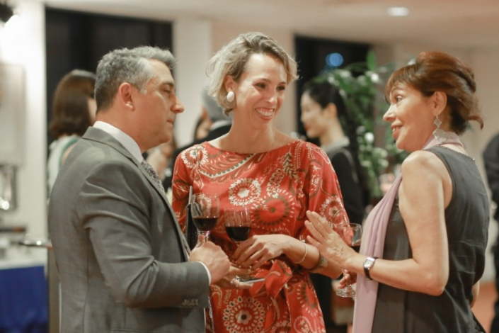 welcome cocktail party of the ambassador of brazil to thailand